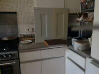 White kitchen units in good condition. Free to collect