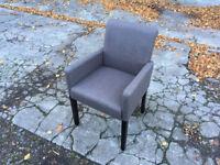 Grey chair / small armchair / office chair