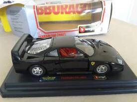 BRAND NEW: Burago Ferrari F40 (1987) model black