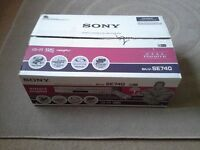 Brand new Sony video player,SLV -SE 740,boxed remote control and instructions.silver