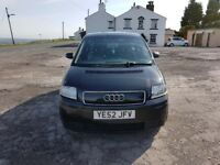 Audi A2, good condition, low mileage for the year £900 or nearest offer