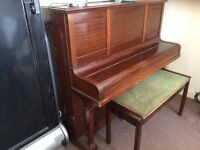 Luton and Letchworth Upright Piano with Double Stool