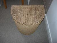 Seaweed semi circular laundry basket