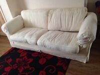 Free Cream Sofa Set