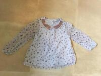 3-4 Years Girls Sparkle feathers blouse/top