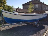 16ft orkney strikeliner fishing boat