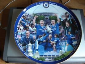 Rare Large Danbury Mint Chelsea FC Collectors Plate First & New Wembley