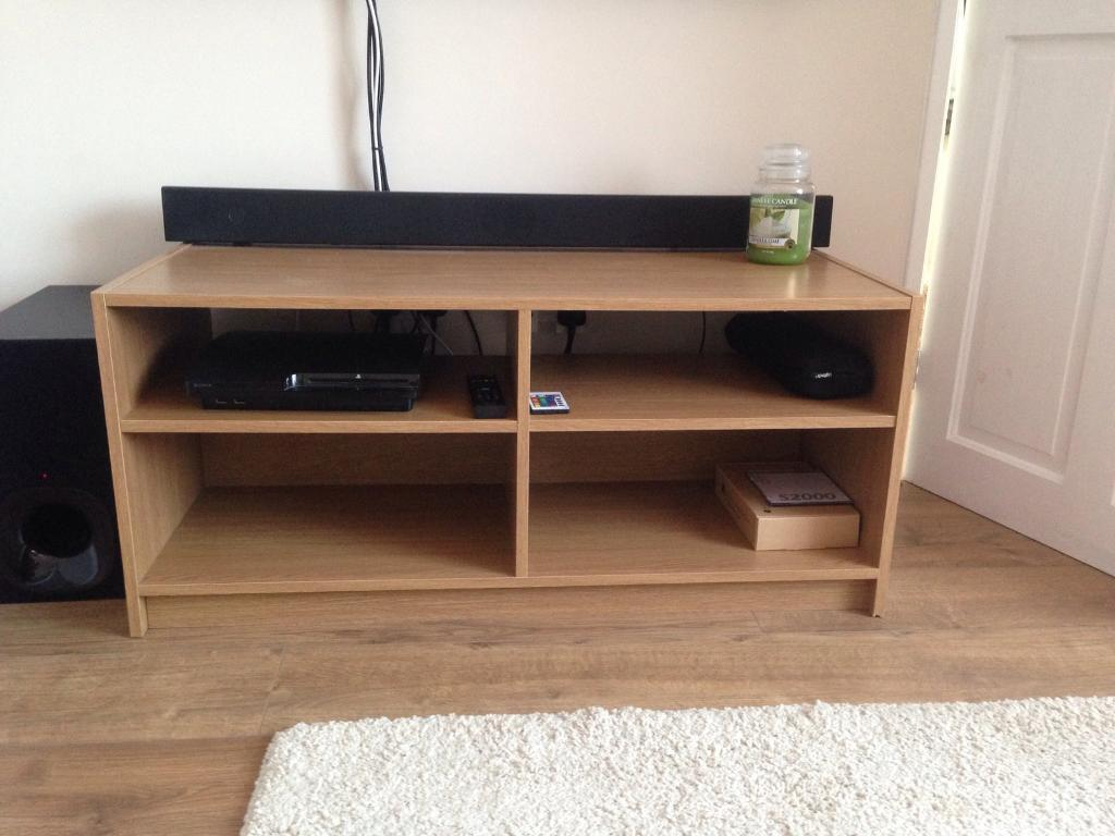 Oak veneer tv stand unit