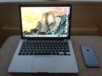 Macbook Pro late 2014 and i phone 6 64gb. Immaculate as new condition.