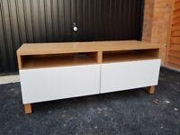 IKEA Besta TV stand with push open drawers