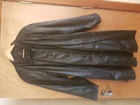 Ladies Black genuine Leather Coat as new never worn