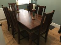 John Lewis Maharani dining table & chairs