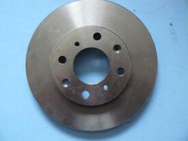 Pair of Front Brake Discs for Honda Jazz, City, Logo