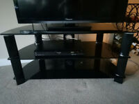 Large John Lewis TV Stand - Black Glass