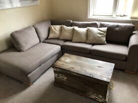 Grey corner sofa - originally from John Lewis. 2 years old.