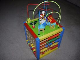 Zoo House Wooden Activity Cube