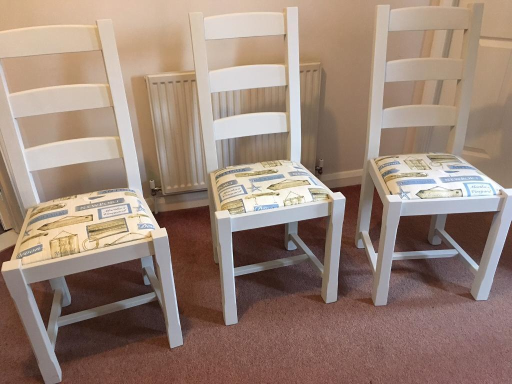 upcycled dining room chairs £20 each | in eye, suffolk | gumtree