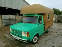 vintage 1979 MK 2 Ford Transit food wagon business blank canvas camper,