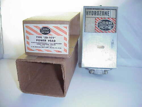 CASH ACME ZD-100 POWER HEAD FOR HYDROZONE ZONE CONTROL VALVE- NEW OLD STOCK