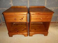 2x ducal pine bedside cabinet