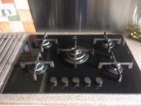 Electrolux 5 burner glass gas hob