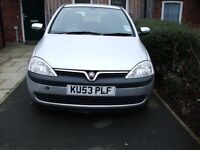 SILVER VAUXHALL CORSA KU53PLF SELLING FOR SPARES OR REPAIRS.