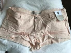 Brand new ladies shorts size 18