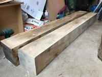 Solid English oak beams/fireplace beam 6'4""