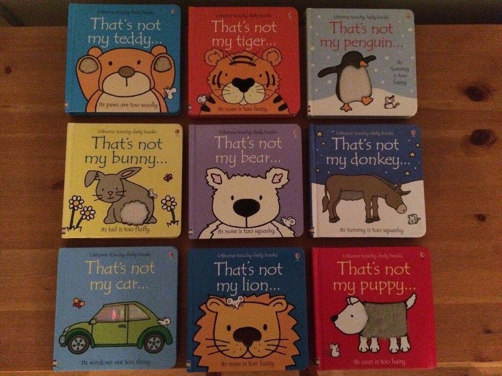 THAT'S NOT MY Baby Toddler Hardback Usborne Touchy Feely Books x 9 @ Tiger Lion Teddy Car Bunny Bear