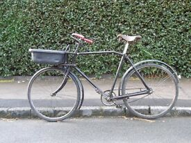 Old Post Office bike with carrier frame and basket