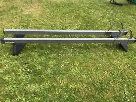 Roof rack for cars or vans with gutters.