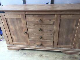 Wooden sideboard unit