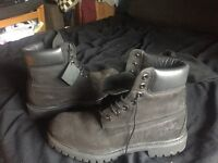 timberlands size 8 black