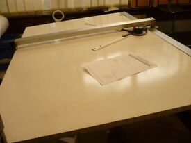 Drafting Drawing Table(A0 plus size) 153cms x 92cms table top.20mm thick table top