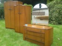 Austin suite three peice wadrobe and dressing table set.