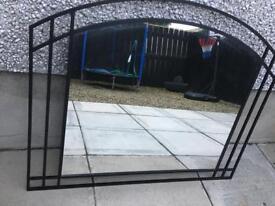 NEXT Black Cast Iron Mirror