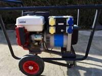 Petrol Honda generator 240/110