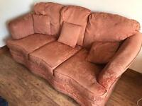 3 piece + 2 one seaters - free to collect - good condition