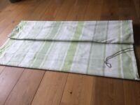 Green striped Laura Ashley roman blind 120 x 180 cms