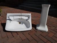 Three attractive matching Bathroom Sinks and Pedestals