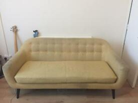 Linen sofa 3 seater. Hard wearing cost 450 new