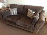 Thomsons Alexis 3 seater sofa and snuggle chair (Sherlock Nutmeg colour) for sale
