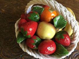 Ceramic Bowl of Fruit by Lanzarin Handmade in Italy