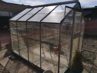 Greenhouse - old and tired. Needs new home, or break up for spares. 7 x 8 feet