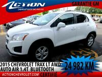 2015 CHEVROLET TRAX AWD LT CROSSOVER 4 CYL 1.4T AUTO AIR BLUETOO