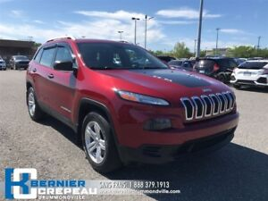 2014 Jeep Cherokee Sport **4X4, V6, ENS. CHAUFFANT, CAMERA + WOW