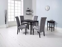 Carmen Dinning Table With Fabric Chairs