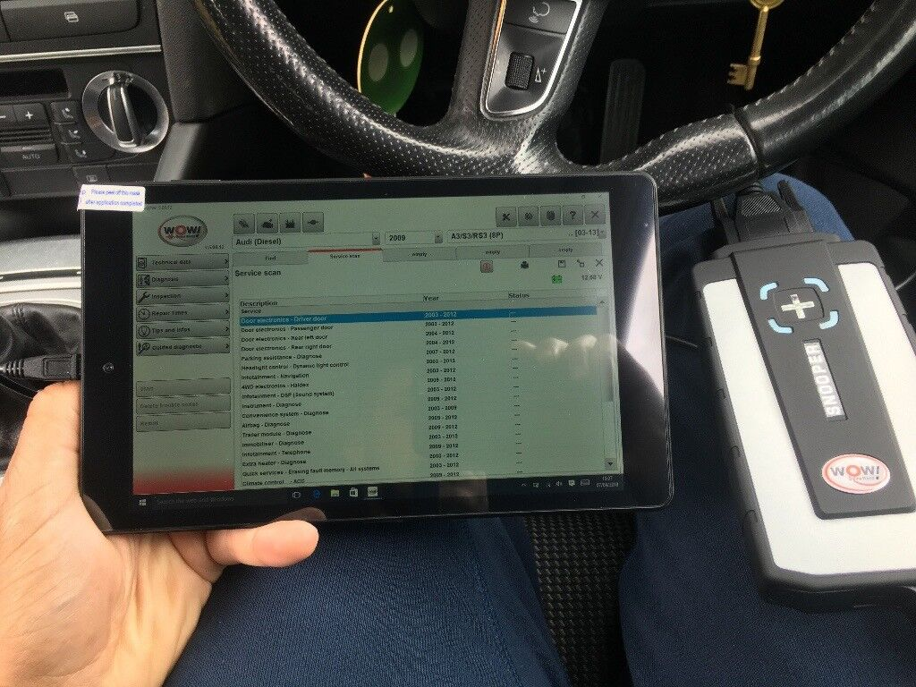 Car And Truck Diagnostic Tablet 8 Inch Delphi R3 Wow Wurth 2018 Wiring Diagram Kia Carens Universal Tool Code Reader