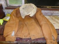 vintage leather and lambs wool jackets