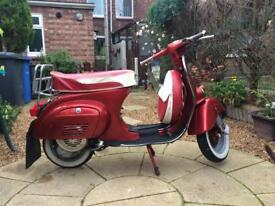 Vespa V100 small frame with a Primavera 125cc engine fitted